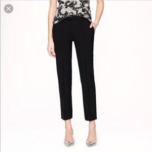JCREW CAFÉ CAPRI PANT Size 6 Style 57064 Black